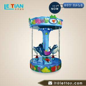 Children's deluxe carousel is environmentally friendly, safe, corrosion resistant and stable. It can be customized according to the site conditions.