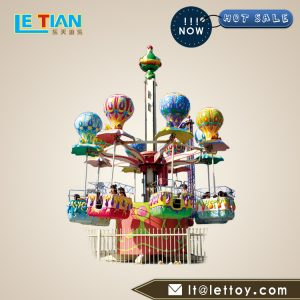 The rotaing tower is a novel, gorgeous, realistic sound, and the passengers sit up and down,Loved by children and teenagers.