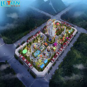 The playground park design renderings are planed according to the situation of the venue,and LETIAN will provide you with one-stop service.